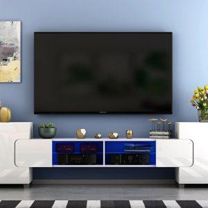 High Gloss TV Unit White